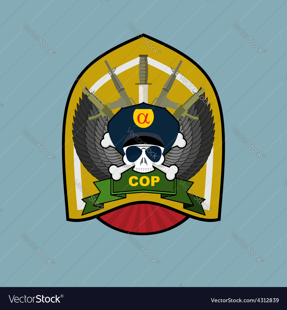 Special forces emblem military logo embroidery vector   Price: 1 Credit (USD $1)