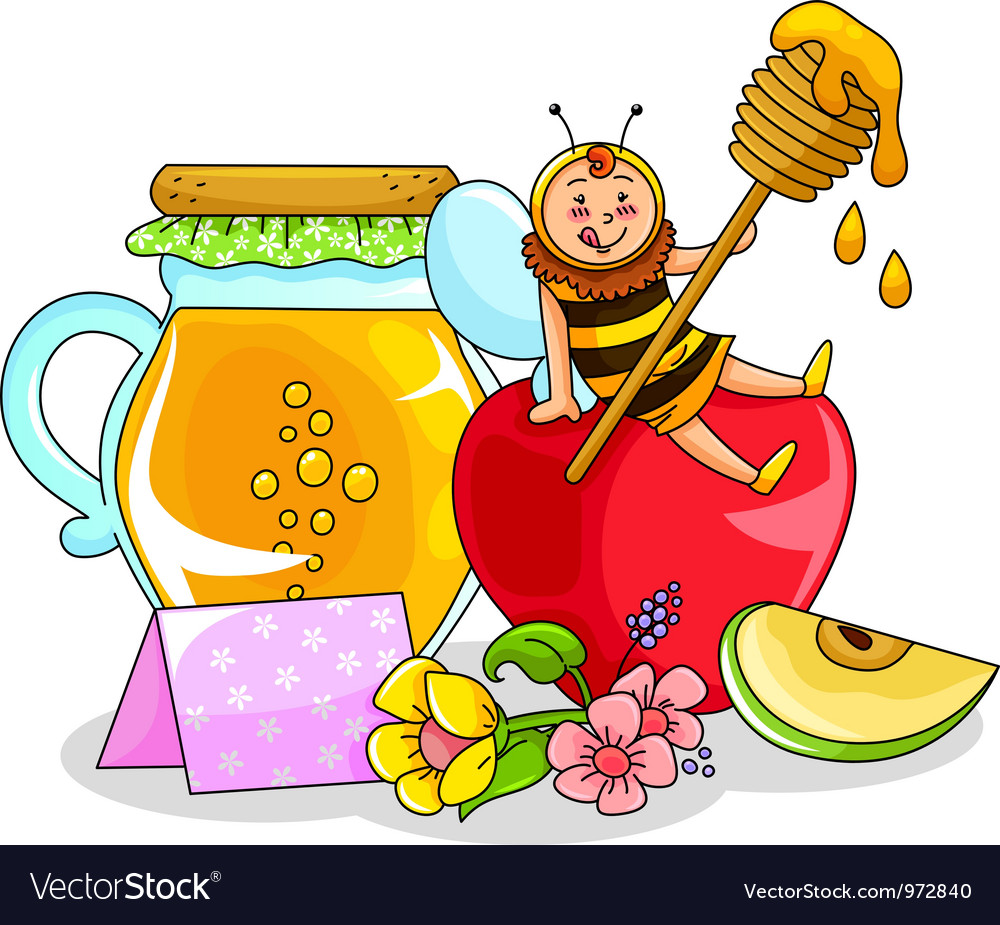 Apple and honey vector | Price: 3 Credit (USD $3)