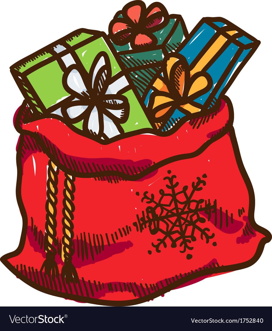 Bag full of presents vector   Price: 1 Credit (USD $1)
