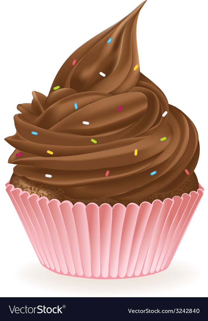 Chocolate sprinkle cupcake vector | Price: 3 Credit (USD $3)