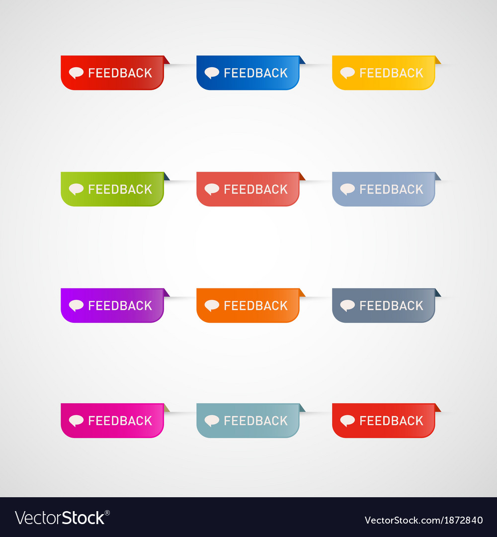 Colorful feedback icons vector   Price: 1 Credit (USD $1)