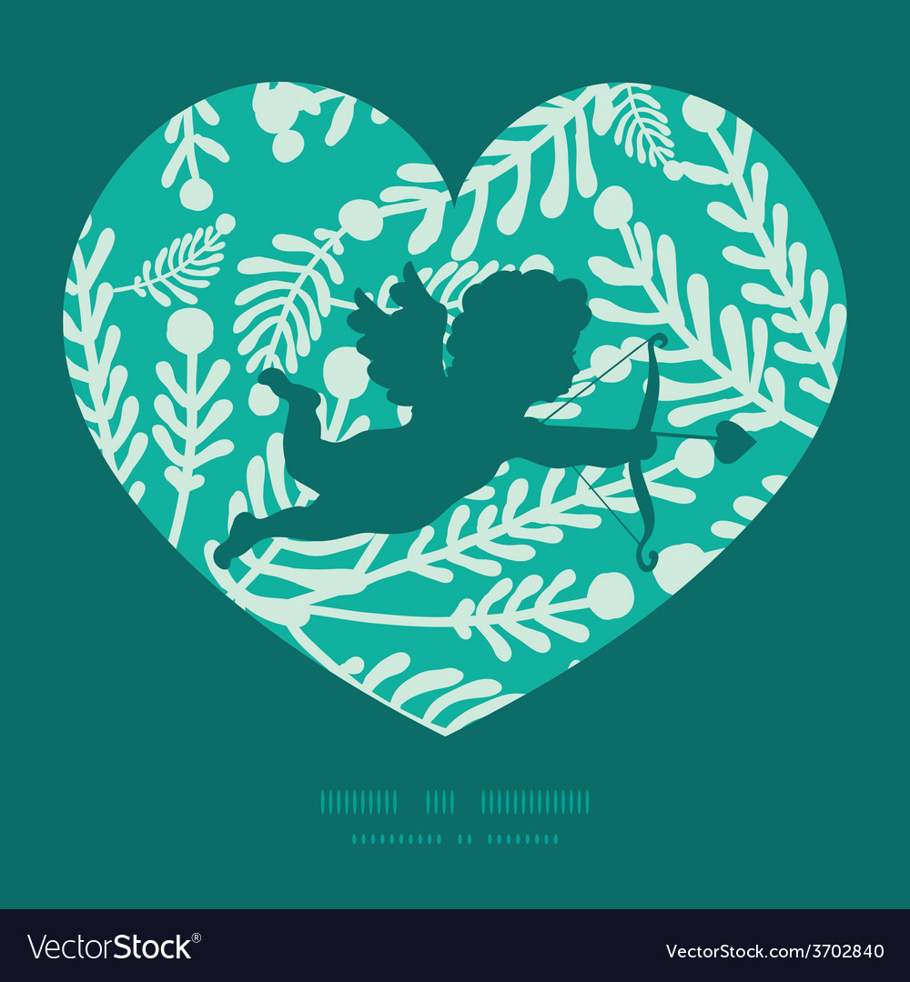 Emerald green plants shooting cupid vector | Price: 1 Credit (USD $1)