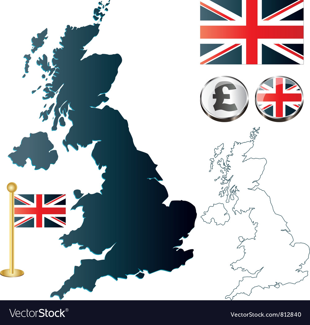 Great britan map vector | Price: 1 Credit (USD $1)