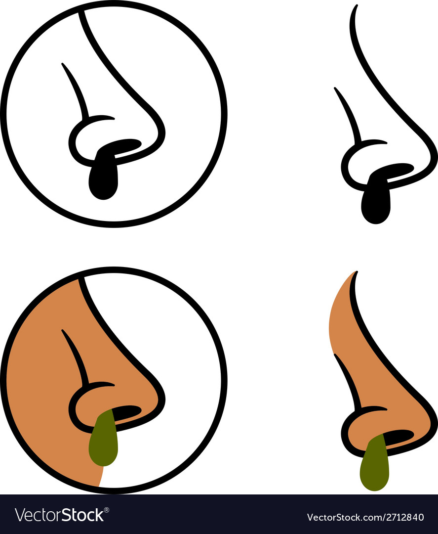 Human nose snot booger cold symbols vector   Price: 1 Credit (USD $1)