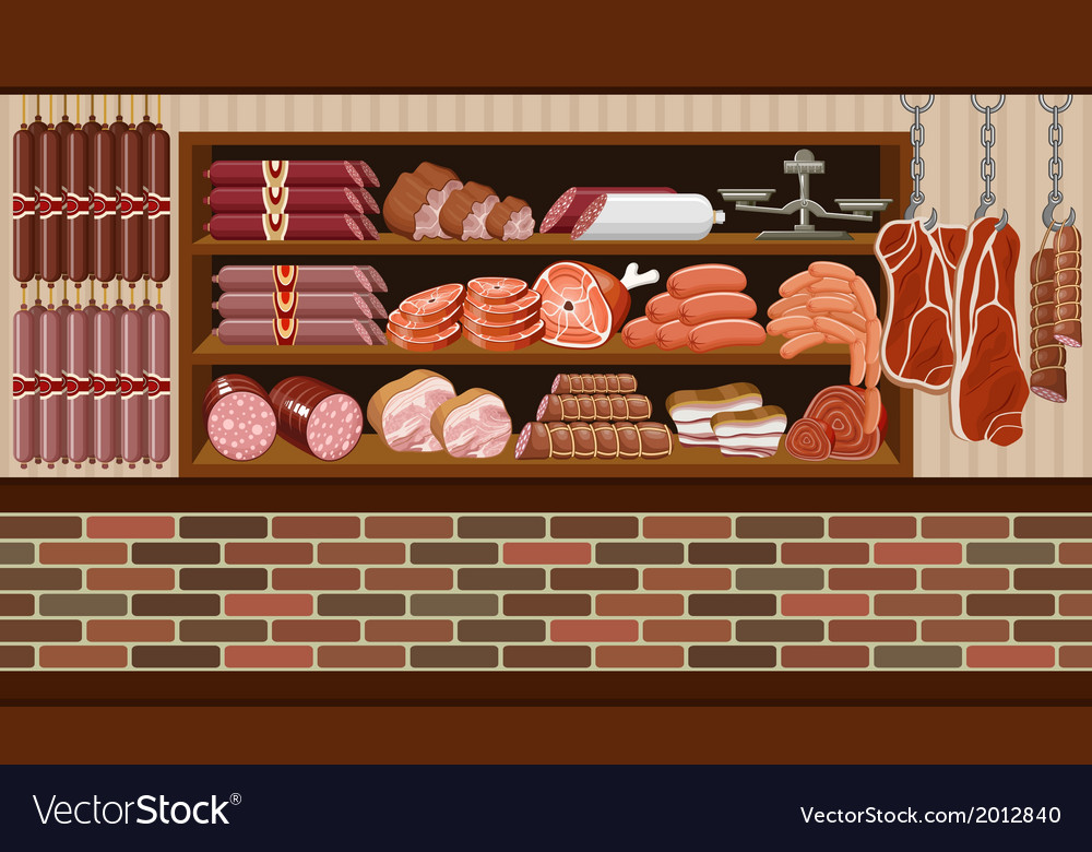 Meat market vector | Price: 3 Credit (USD $3)