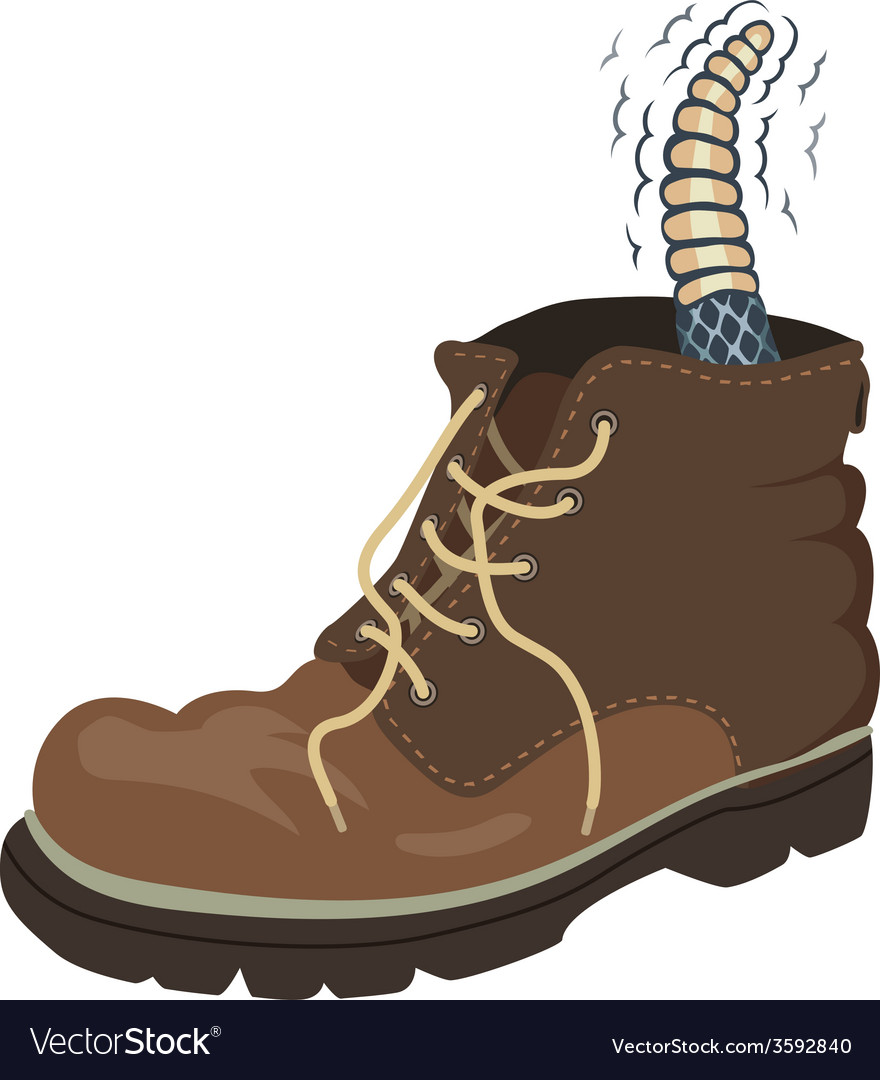 Rattler boot vector | Price: 1 Credit (USD $1)