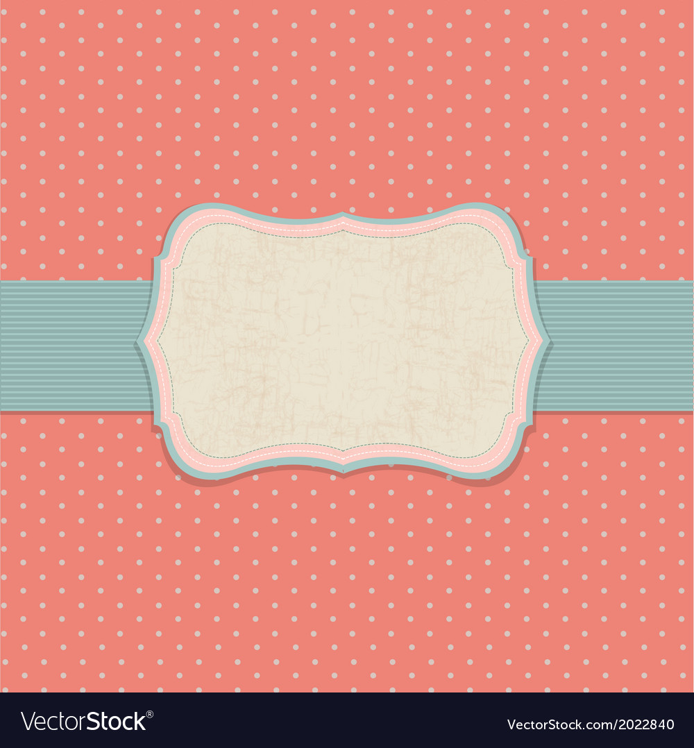 Retro pastel label vector | Price: 1 Credit (USD $1)