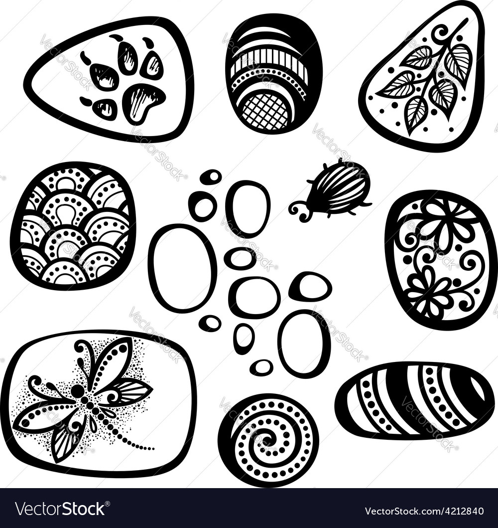 Set of pebble icons vector | Price: 1 Credit (USD $1)
