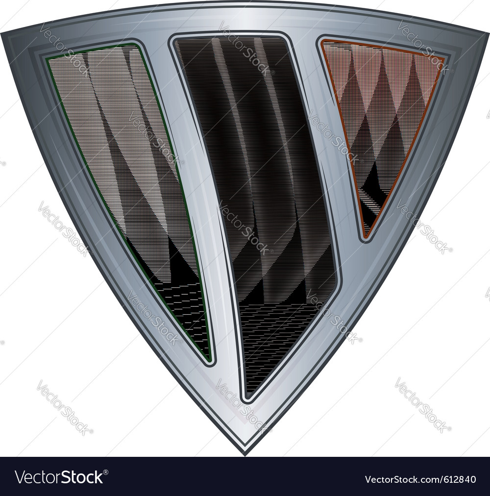 Steel shield with flag ireland vector | Price: 1 Credit (USD $1)