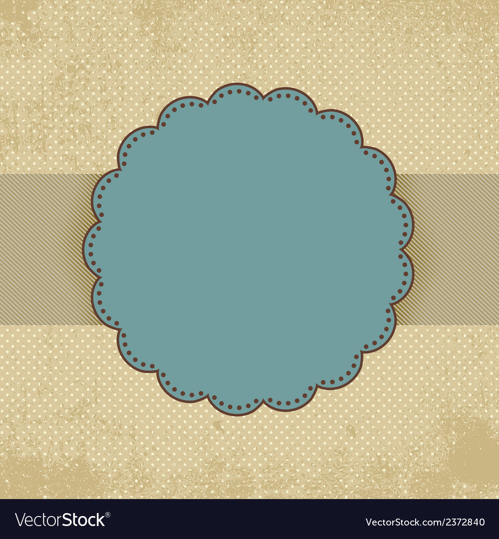 Vintage polka dot card template eps 8 vector | Price: 1 Credit (USD $1)
