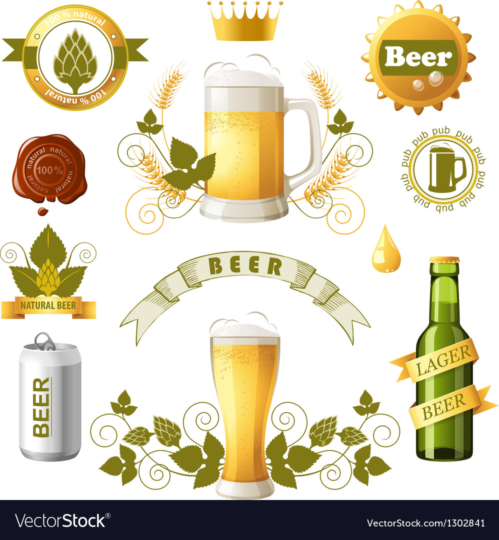 Beer emblems vector | Price: 3 Credit (USD $3)