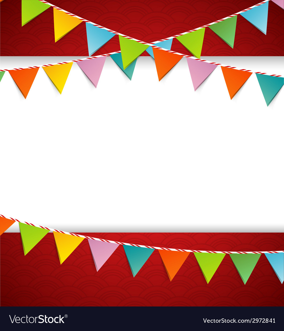 Bunting party color flags vector | Price: 1 Credit (USD $1)