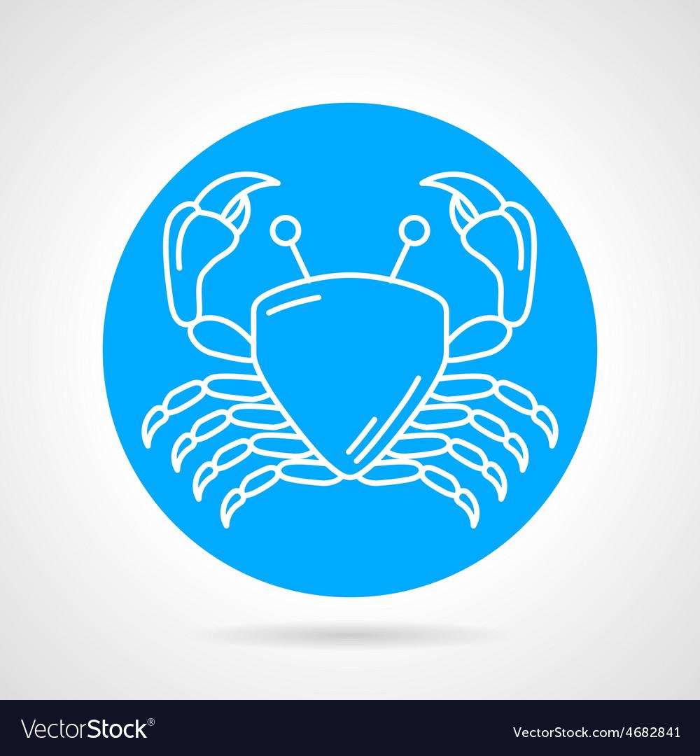 Crab blue round icon vector | Price: 1 Credit (USD $1)