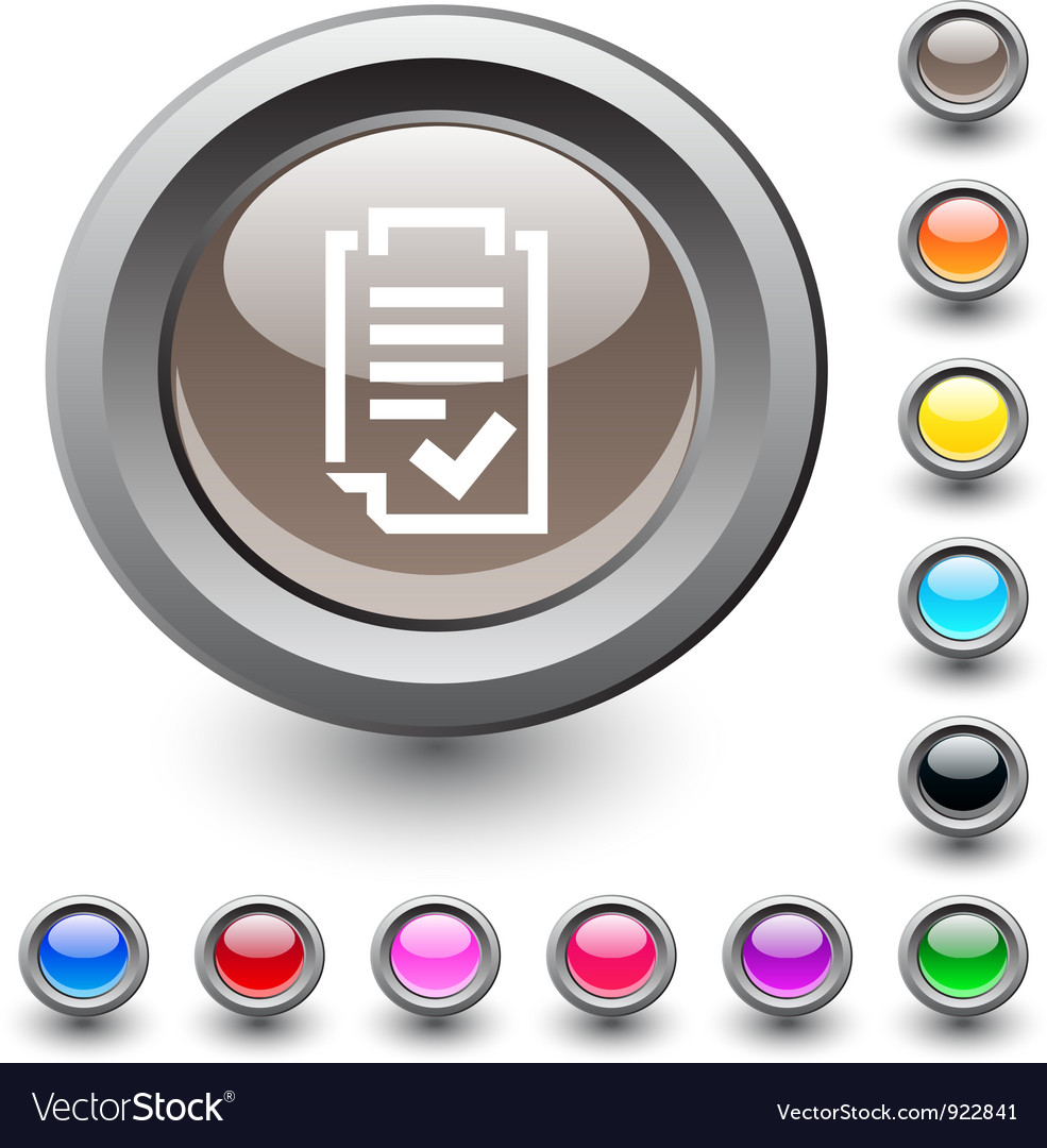 Form round button vector | Price: 1 Credit (USD $1)