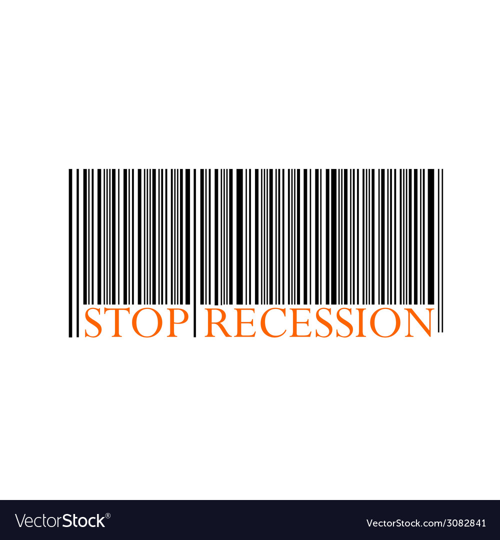 Stop recession with bar code vector | Price: 1 Credit (USD $1)