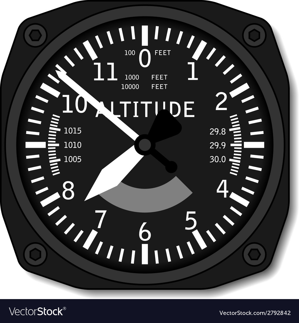 Aviation airplane altimeter vector | Price: 1 Credit (USD $1)
