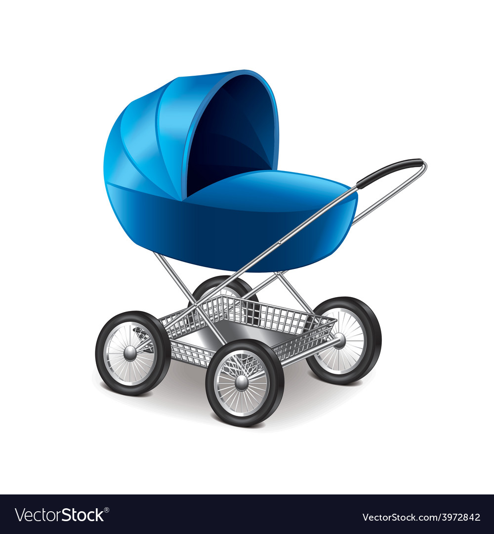 Baby stroller isolated vector | Price: 3 Credit (USD $3)