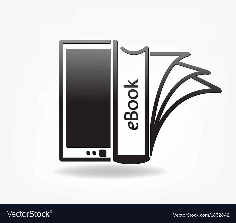 Electronic book concept - vector | Price: 1 Credit (USD $1)