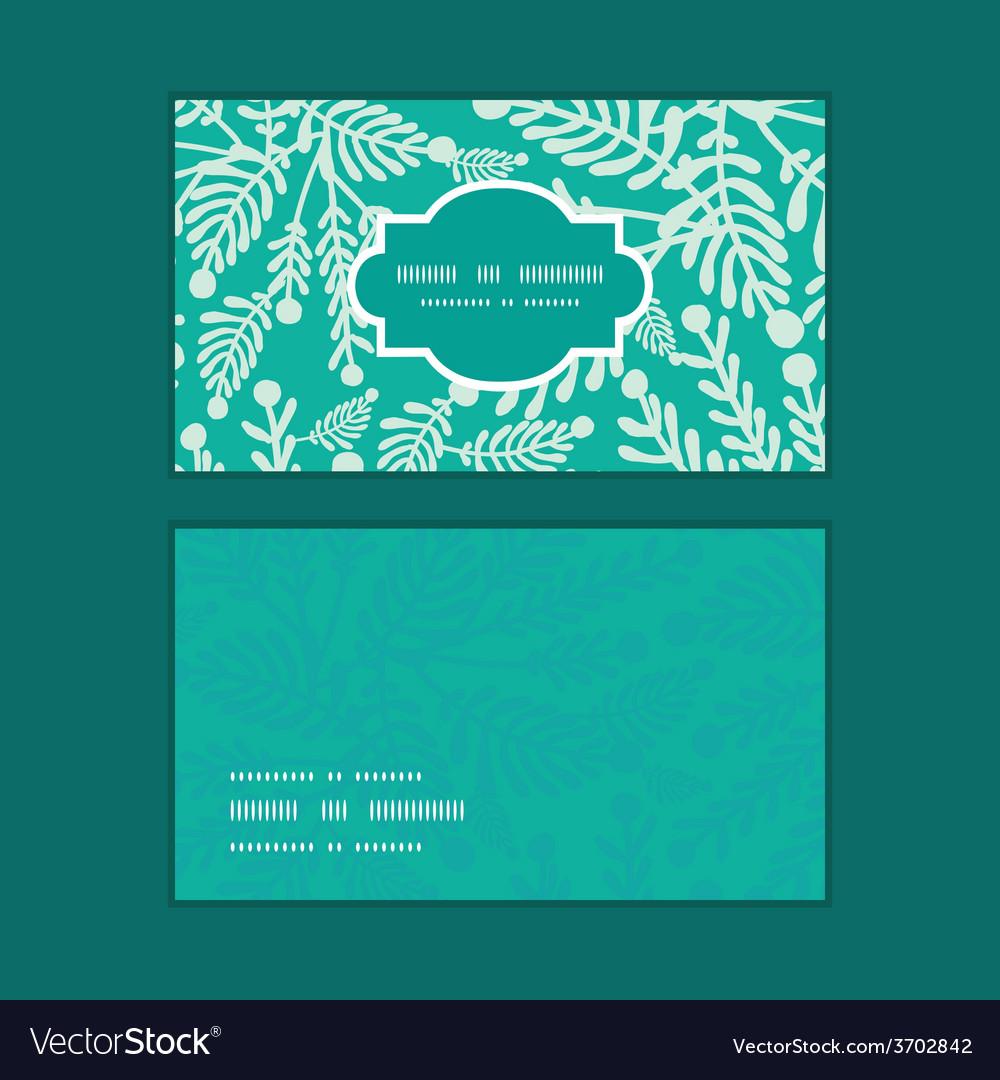 Emerald green plants horizontal frame vector | Price: 1 Credit (USD $1)