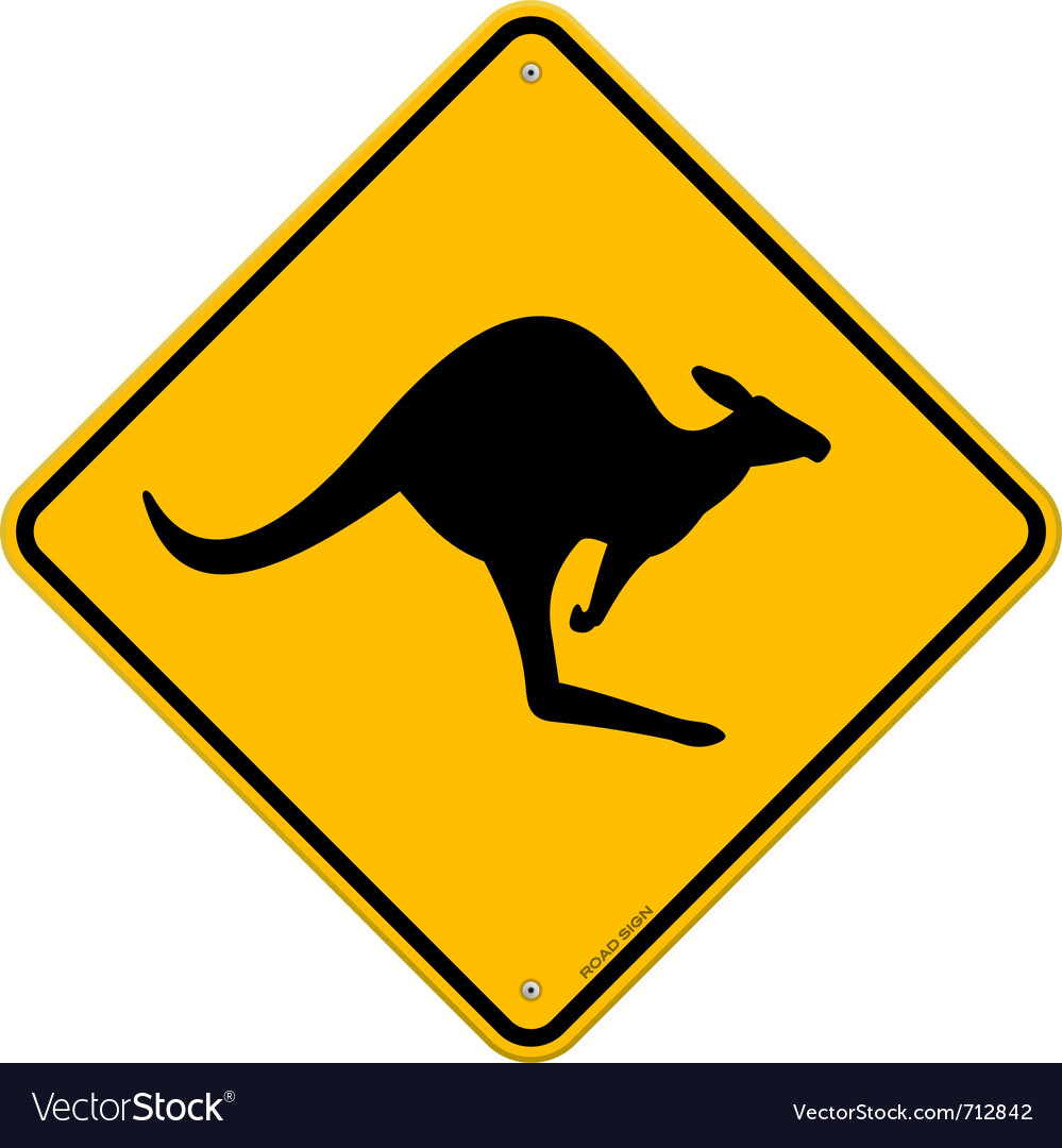 Kangaroo sign vector | Price: 1 Credit (USD $1)