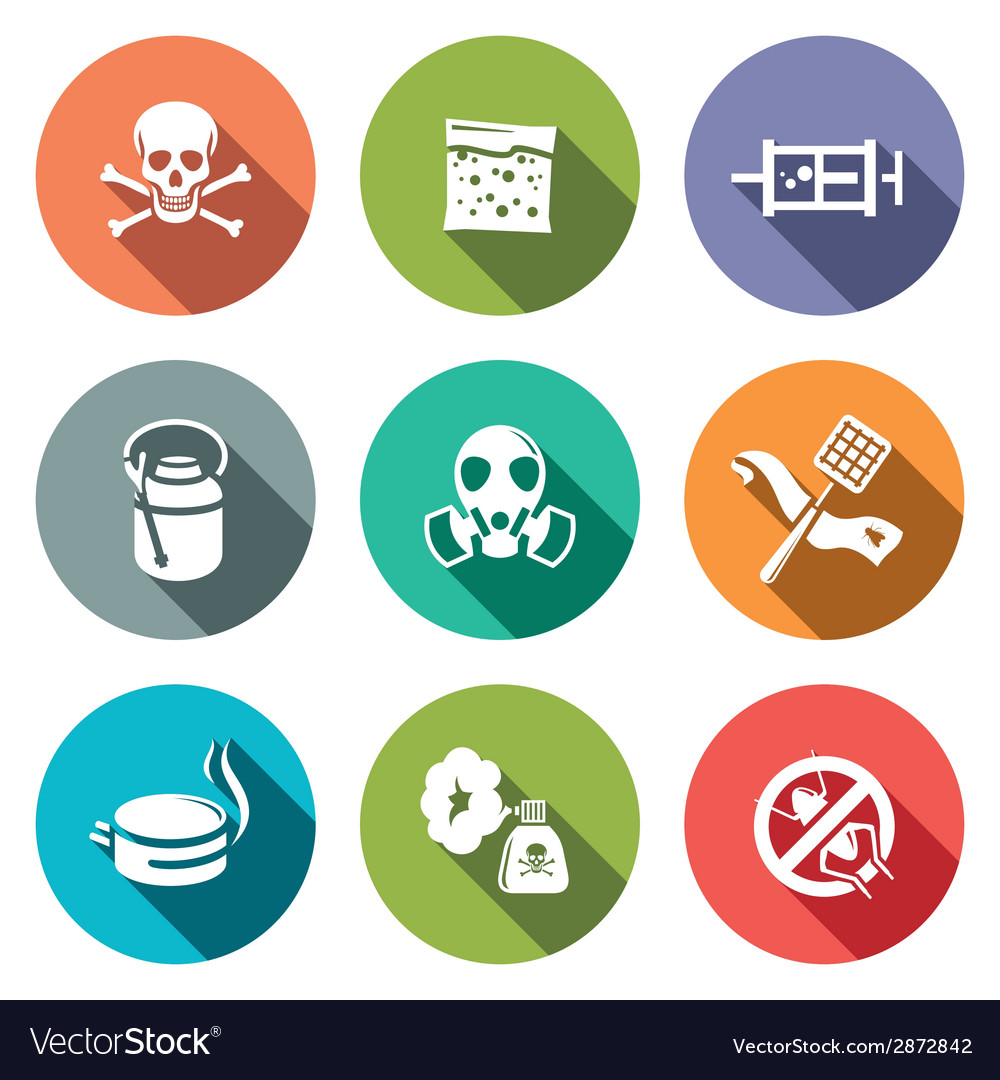No insects flat icon collection vector | Price: 1 Credit (USD $1)