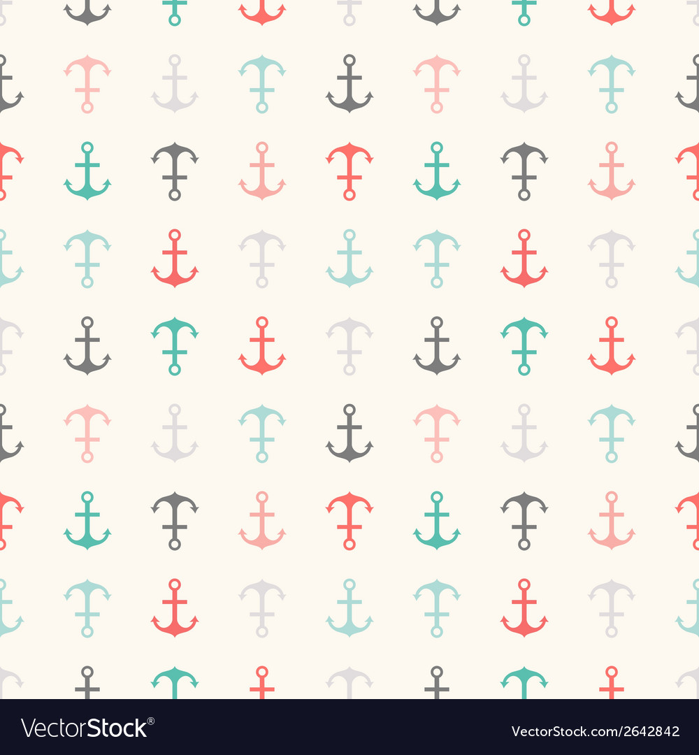 Seamless pattern of anchor shapes endless texture vector | Price: 1 Credit (USD $1)