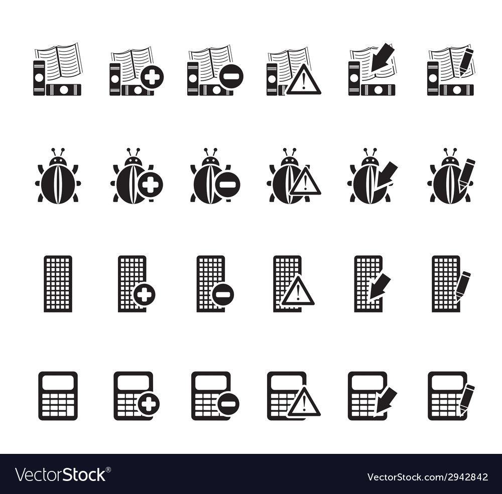Silhouette 24 business and website icons vector | Price: 1 Credit (USD $1)