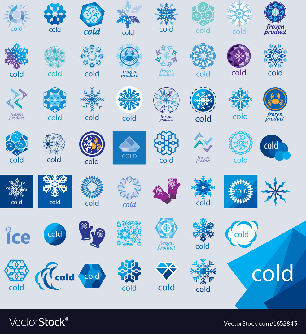 Biggest collection of logos cold and frost vector | Price: 1 Credit (USD $1)