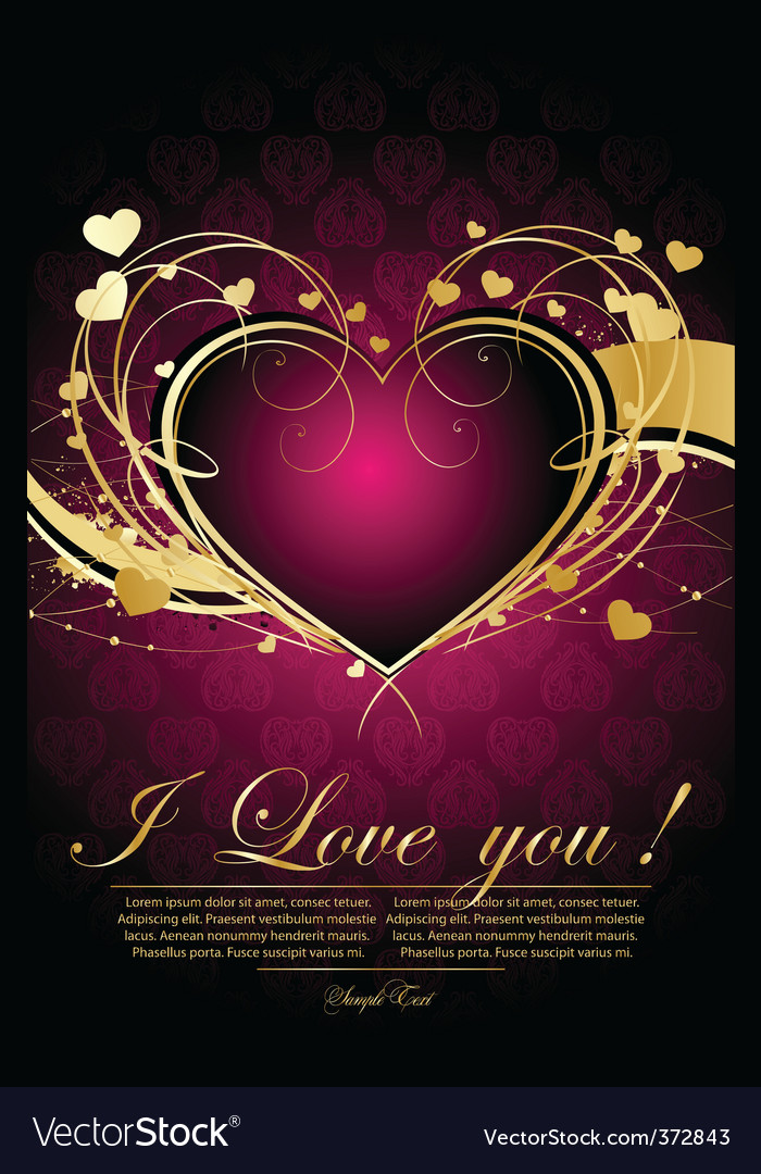 Decorative valentine vector | Price: 1 Credit (USD $1)