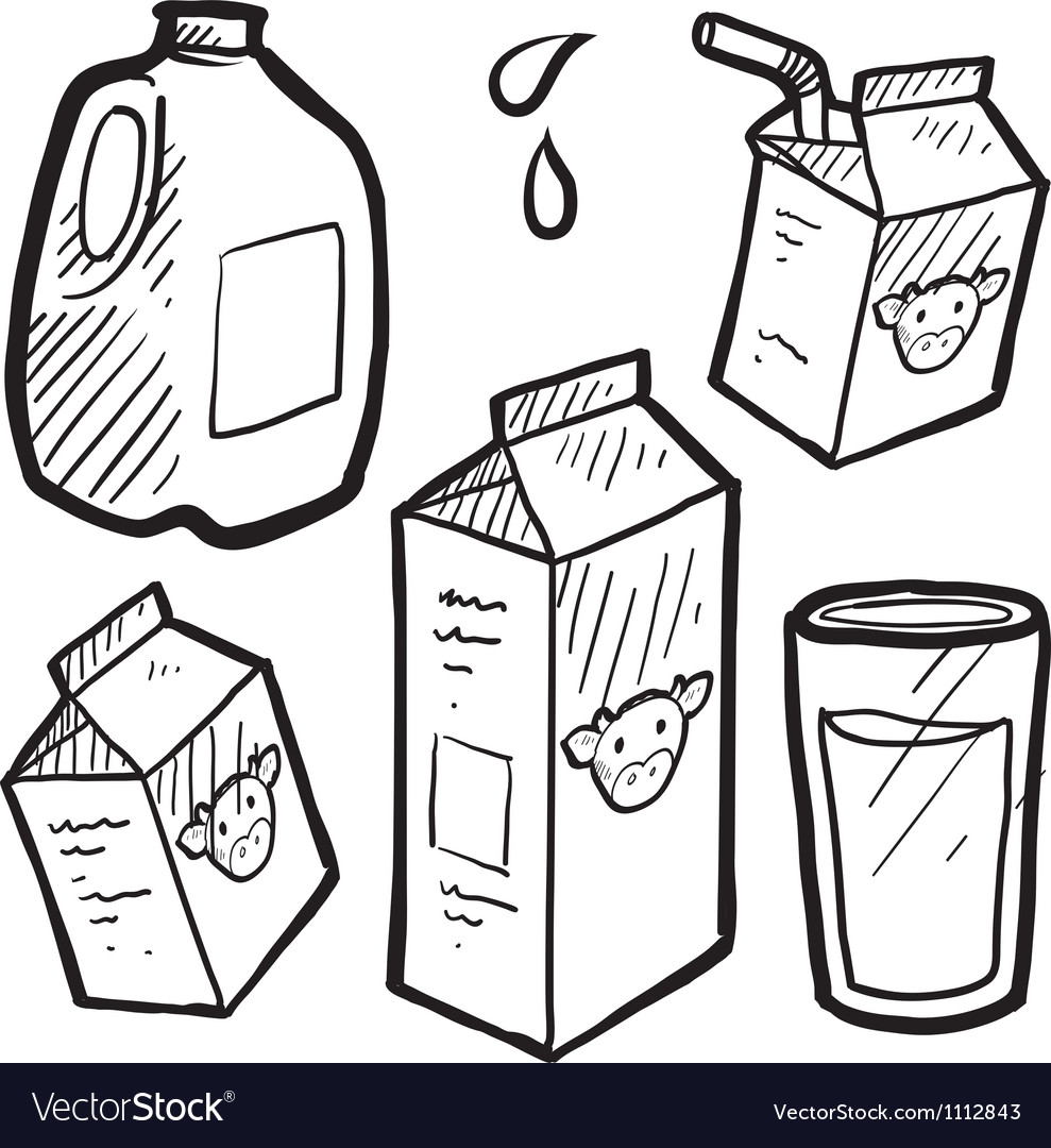 Doodle milk jug carton vector | Price: 1 Credit (USD $1)