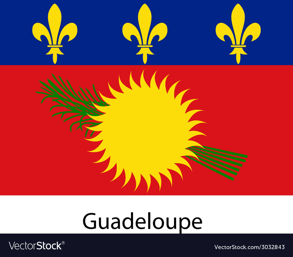 Flag of the country guadeloupe vector | Price: 1 Credit (USD $1)