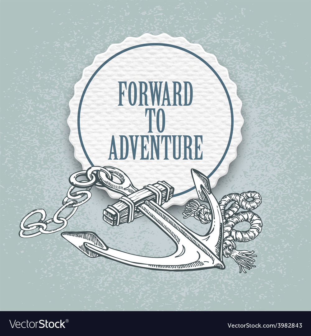 Forward to the adventure hand drawn vector | Price: 1 Credit (USD $1)