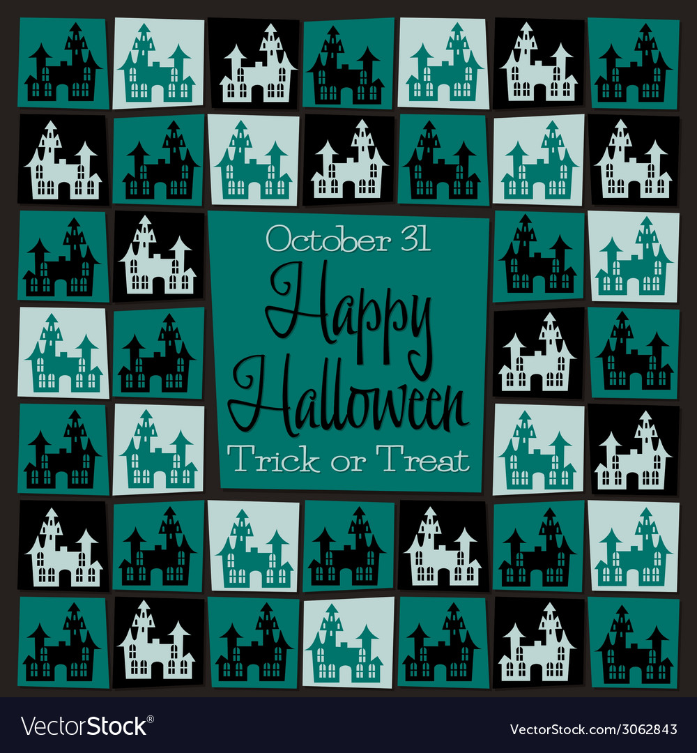 Halloween icons background vector | Price: 1 Credit (USD $1)
