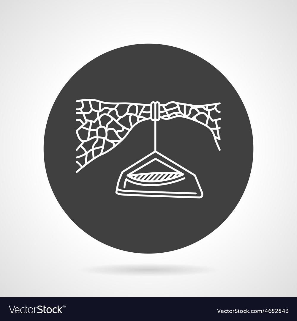 Hanging camp black round icon vector | Price: 1 Credit (USD $1)