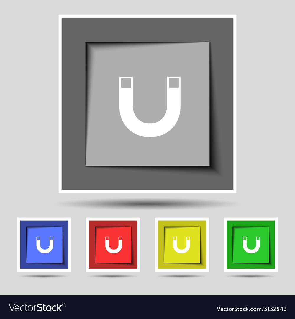 Magnet sign icon horseshoe it symbol repair sign vector | Price: 1 Credit (USD $1)