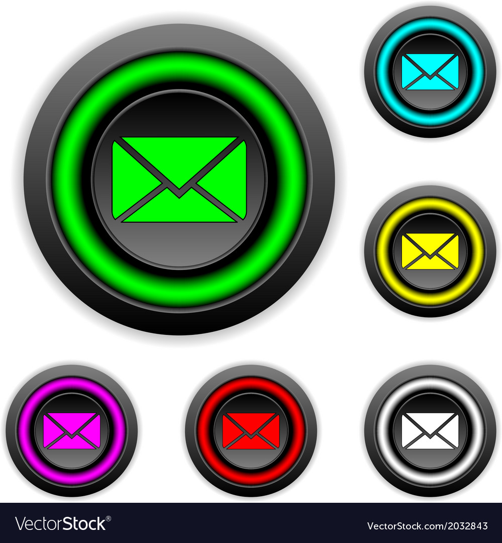 Mail buttons set vector | Price: 1 Credit (USD $1)