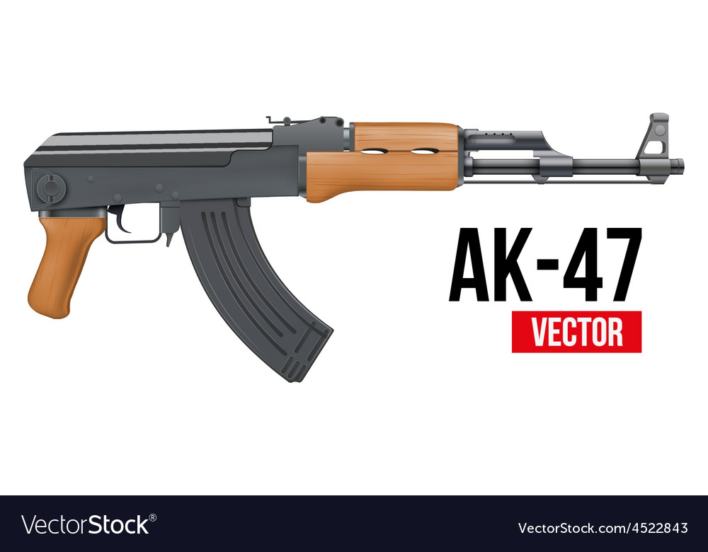 Russian automatic machine rifle ak47 vector | Price: 1 Credit (USD $1)