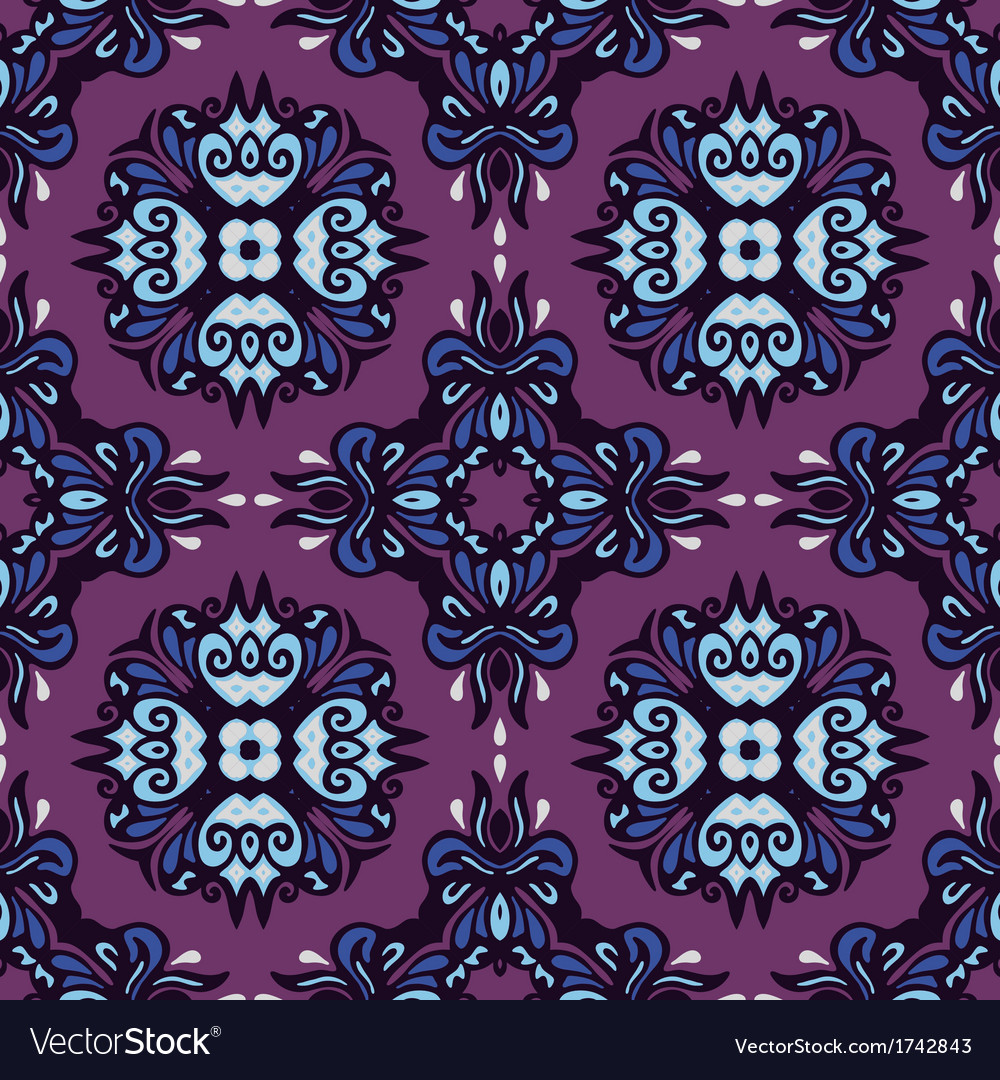 Seamless pattern ethnic abstraction vector | Price: 1 Credit (USD $1)