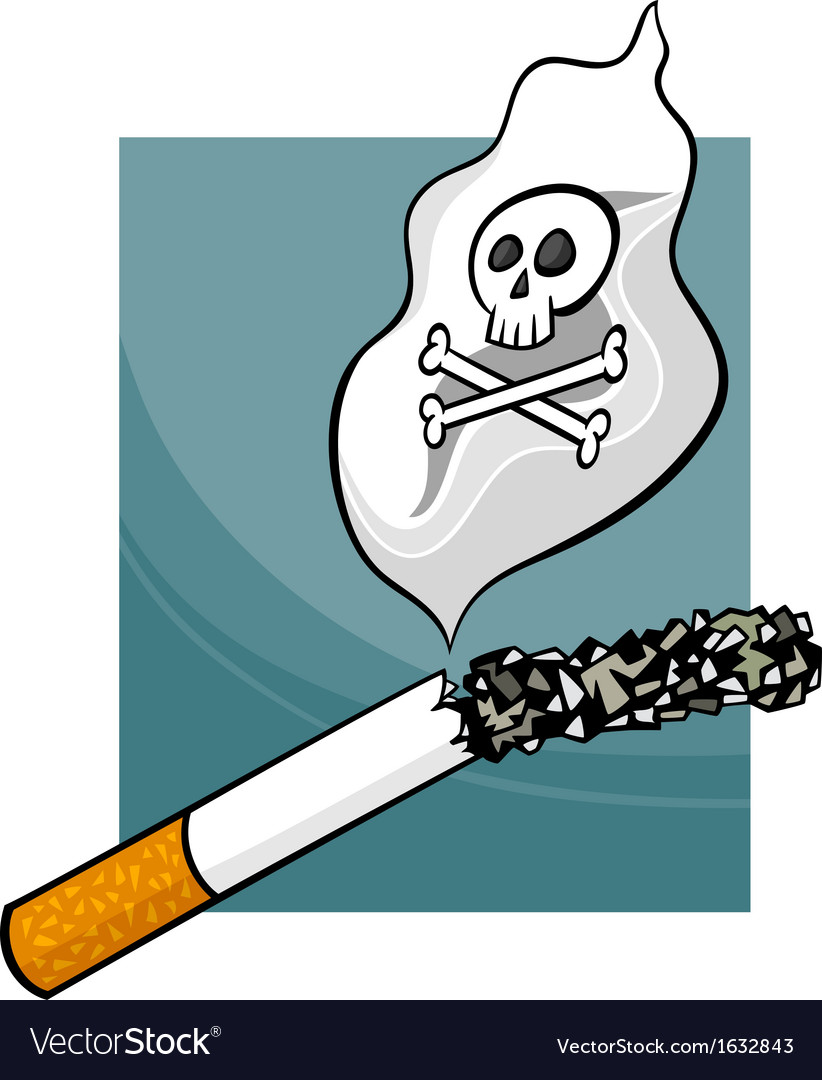 Smoking harms cartoon vector | Price: 1 Credit (USD $1)