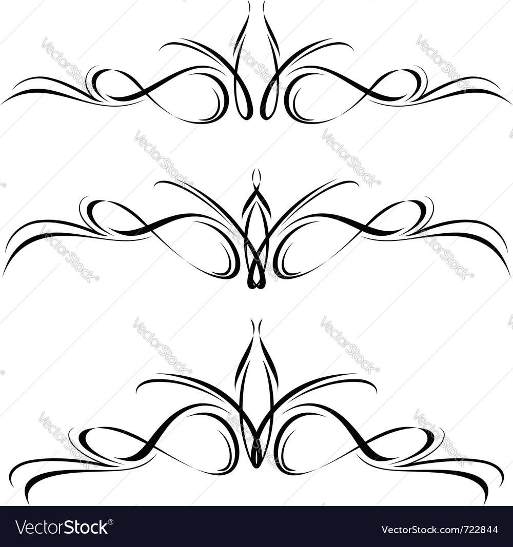 Abstract black flora design element vector   Price: 1 Credit (USD $1)