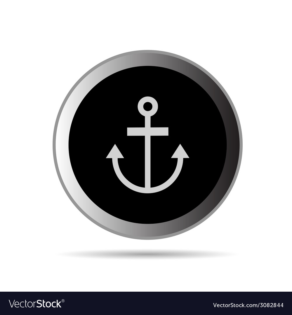Anchor button vector | Price: 1 Credit (USD $1)