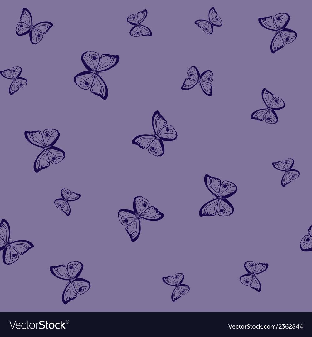 Butterflies seamless pattern vector | Price: 1 Credit (USD $1)