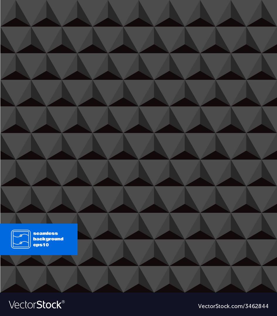 Dark seamless triangles background vector   Price: 1 Credit (USD $1)