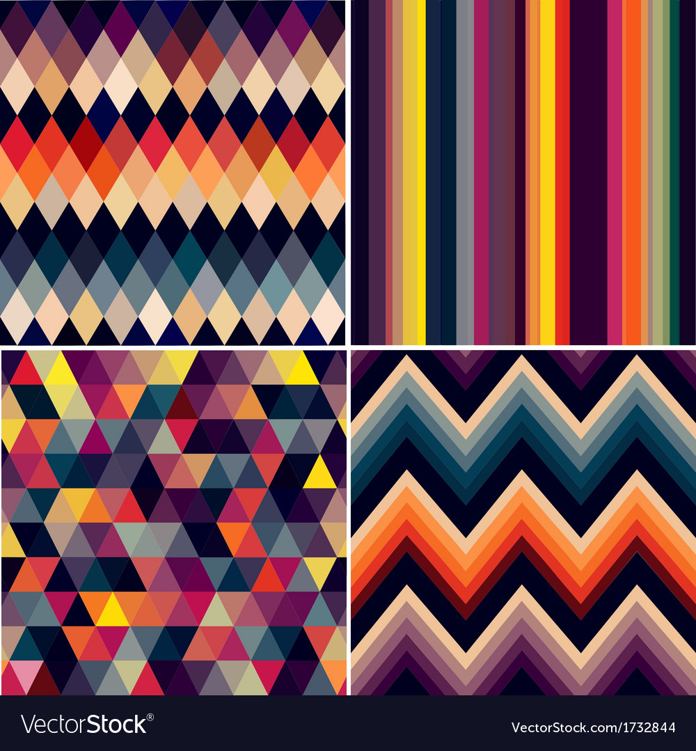 Geometric colorful seamless pattern vector | Price: 1 Credit (USD $1)