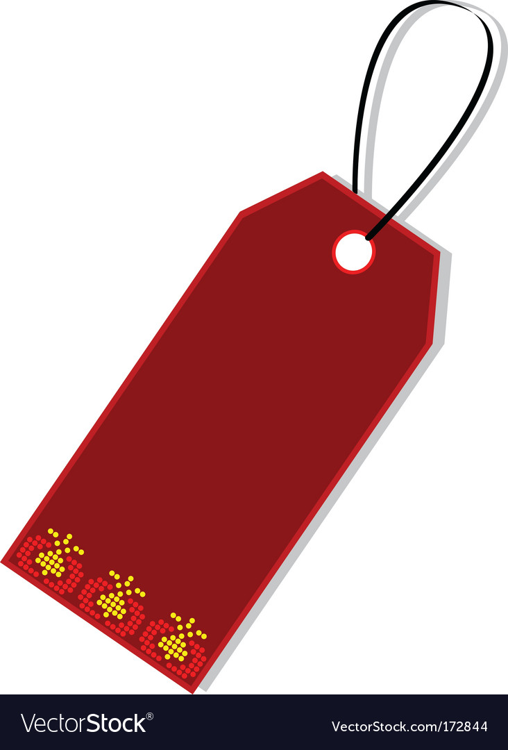 Gift tag vector | Price: 1 Credit (USD $1)