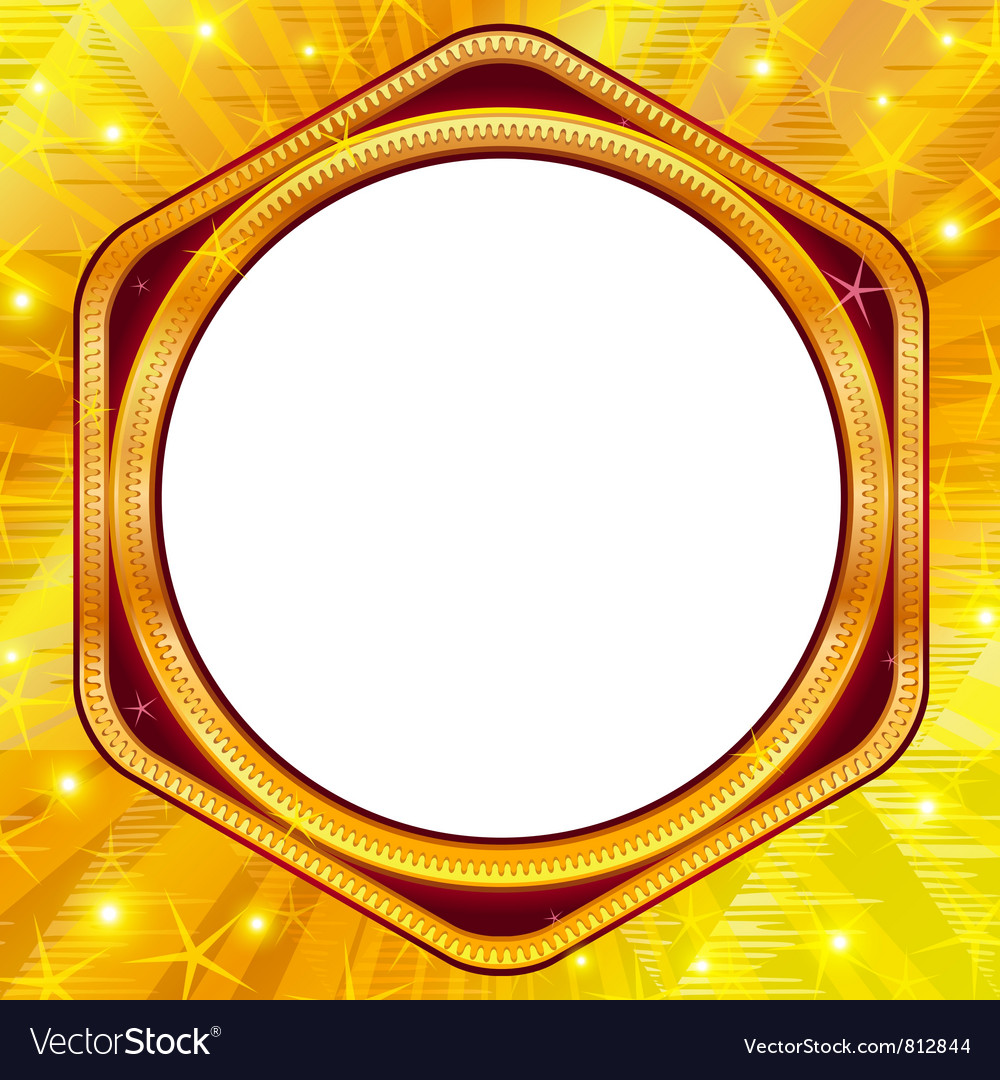 Golden frame on gold background vector | Price: 1 Credit (USD $1)
