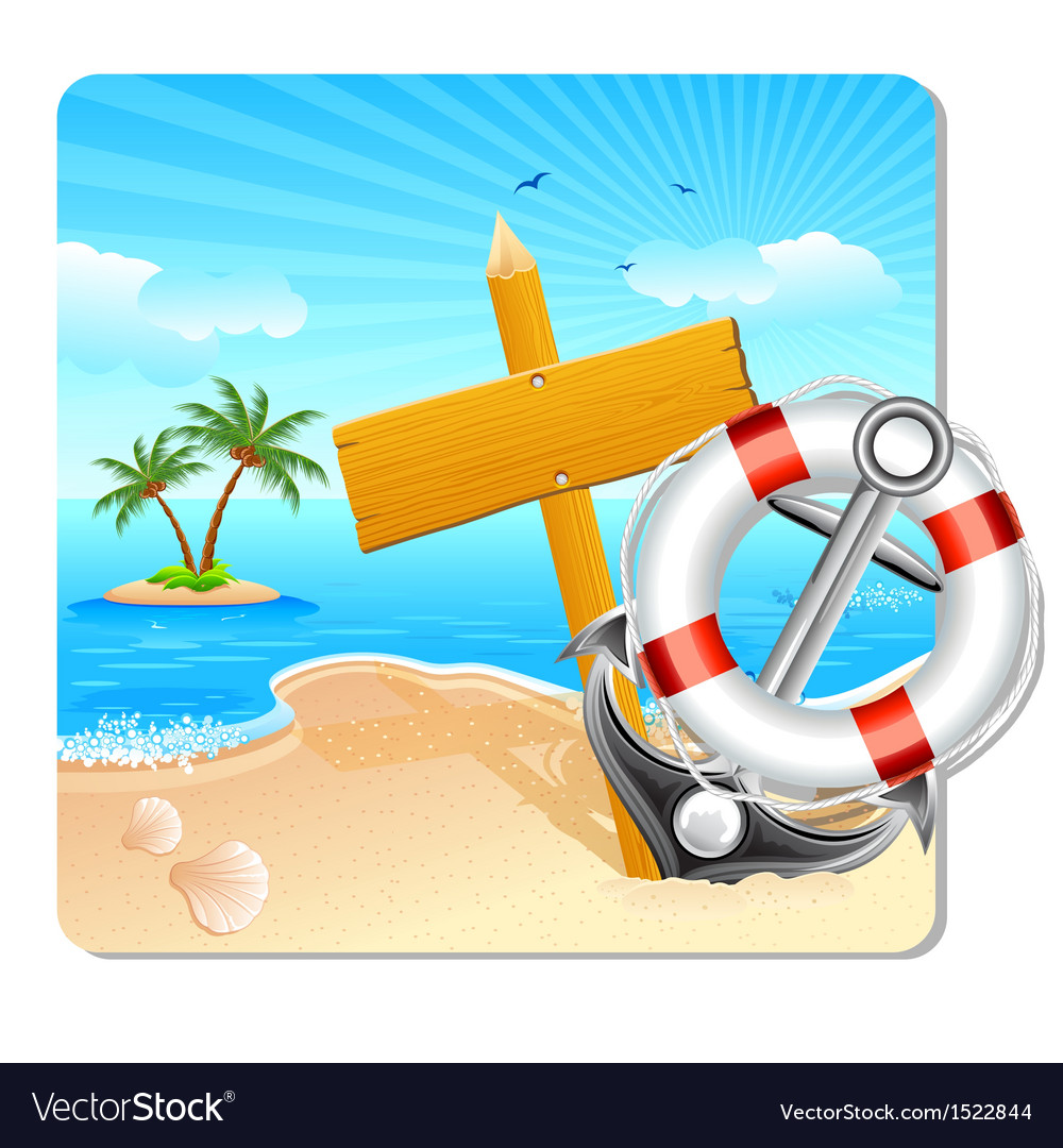 Holiday on beach vector | Price: 3 Credit (USD $3)