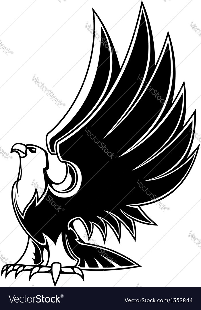 Majestic eagle mascot vector | Price: 1 Credit (USD $1)