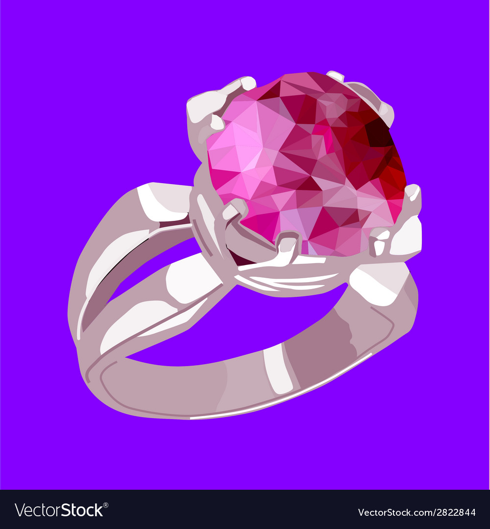 Ring with stone vector | Price: 1 Credit (USD $1)