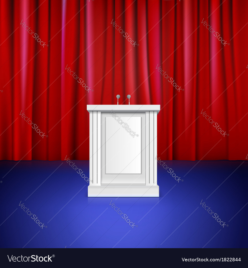 Scene with red curtain tribune place for vector | Price: 1 Credit (USD $1)